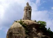 厦门旅游景点鼓浪屿皓月园上的郑成功雕像