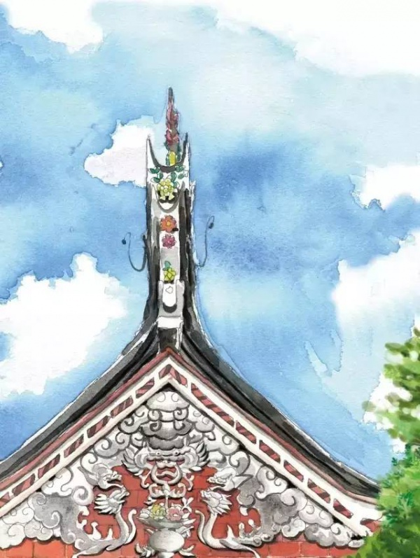 太令人神迷了:手绘版的闽南古厝,竟然美成了这样……