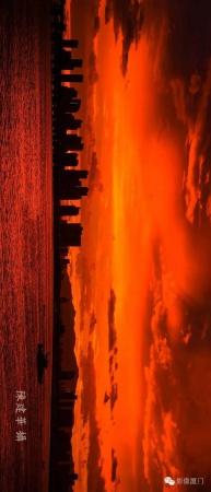 """厦门""""美炸""""了!台风前史无前例的火烧云爆发,震撼得让人害怕…"""