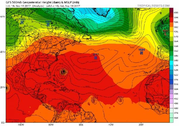 """背风群岛以东四级飓风""""何塞""""(12L.Jose)-核心小巧强劲,再现惊人实测,与Irma双C4鼎立兼北大首次双130kt+;顺时针转圈后重整旗鼓,北上挟烈风大浪影响纽英伦-NHC135KT风暴档案台风论坛-Poweredbyphpwind-发布于:2017-09-171115"""